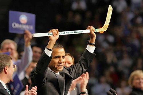 Obama hockey