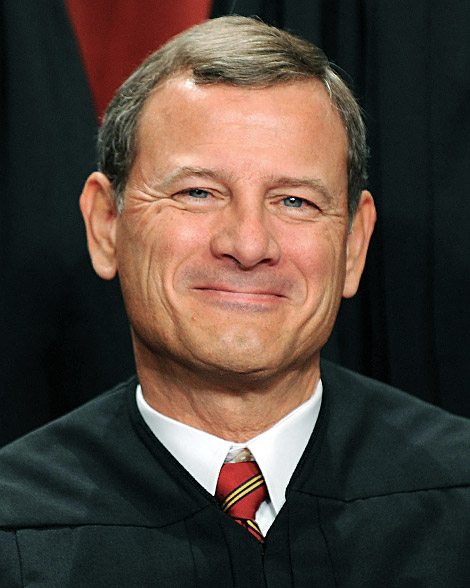 US Supreme Court Chief Justice John G. Roberts participates in the courts official photo session on October 8, 2010 at the Supreme Court in Washington, DC.   AFP PHOTO / TIM SLOAN (Photo credit should read TIM SLOAN/AFP/Getty Images)